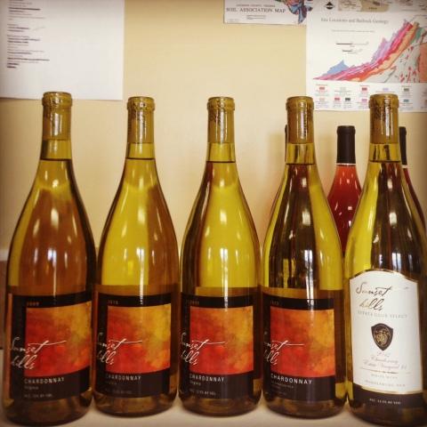 Sunset Hills Chardonnay Vertical, 2009-2012